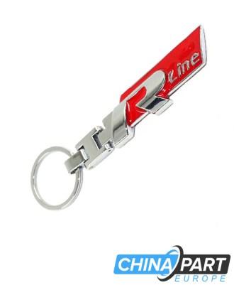 """R Line Metalinis raktų pakabukas """"Large"""" Red"""