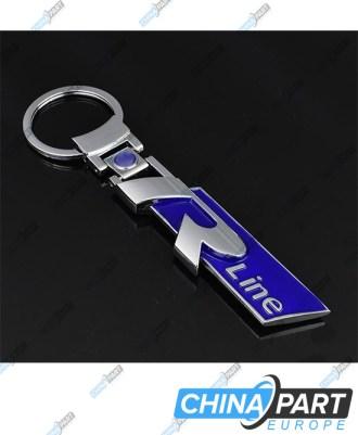 """R Line Metalinis raktų pakabukas """"Large"""" Blue"""