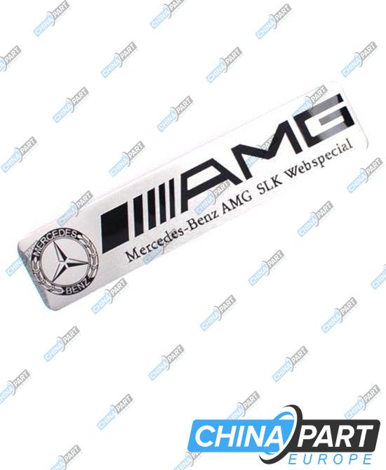 AMG ženkliukas emblema (Silver,black)