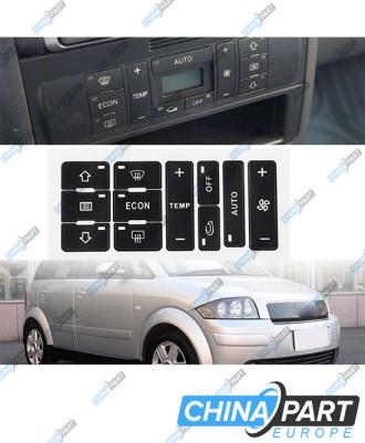 Audi A2 A3 8L Oro kondicionieriaus, klimato kontrolės lipdukai (Remontinis komplektas)