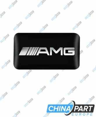AMG ženkliukas emblema ant vairo (Juodas)