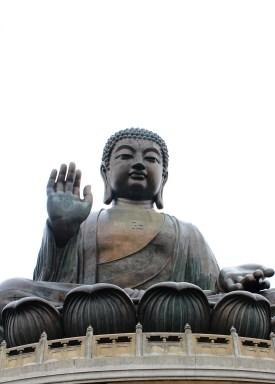 The big buddha at Polin Monastery on Lantau Island.
