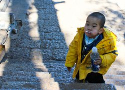 A chinese child in Lijiang.