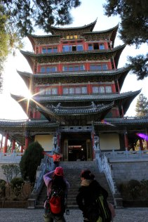 A shot of Wangguolou tower, Lijiang.