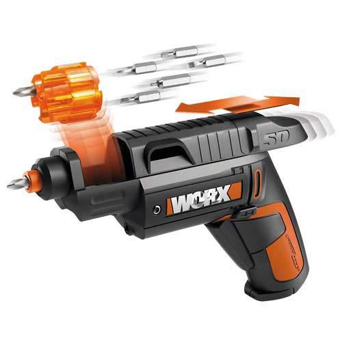 Электрический шуруповерт WX254 WORX, 4 в/1,5 АЧ, литий-ионный электроинструмент