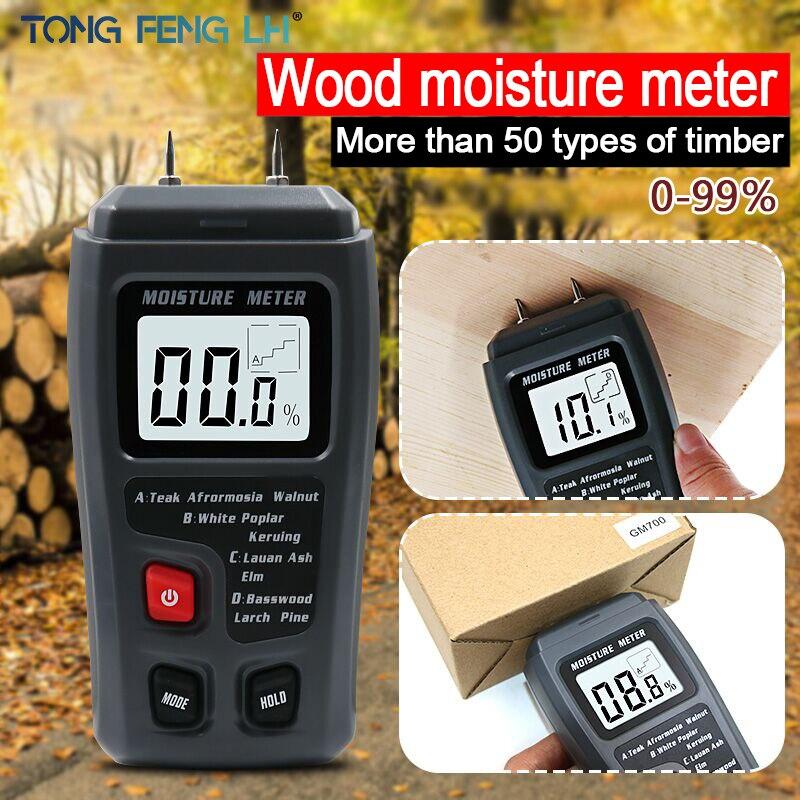 EMT01 цифровой измеритель влажности древесины с двумя контактами 0-99.9%, измеритель влажности древесины, детектор влажности древесины с больши...