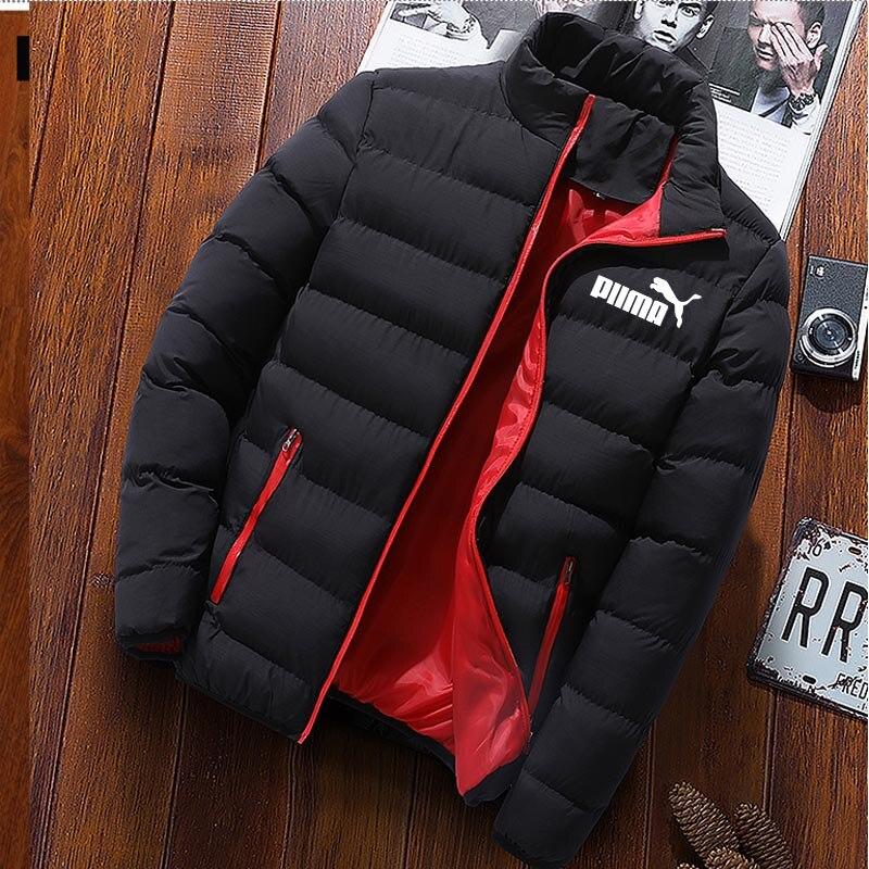 Мужская Зимняя парка, однотонная куртка, Новое поступление 2020, толстое теплое пальто, длинная куртка с капюшоном, ветрозащитное пальто с под...