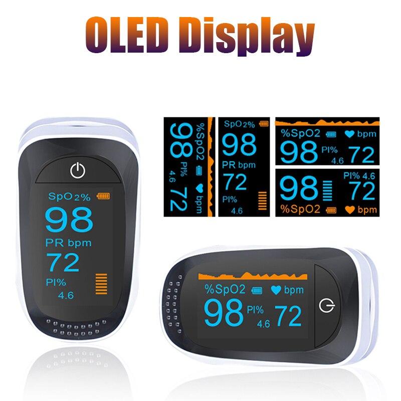 OLED Пульсоксиметр пальцевой оксиметр цифровой пальцевой кончик Boold Oxygen SPO2 PR монитор Oximetro De Pulsioximetro Dedo с Чехол