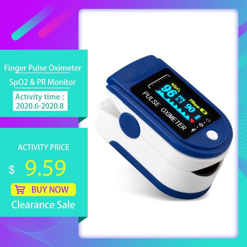 Пальчиковый Пульсоксиметр насыщение крови кислородом и обнаружение сердечного ритма 10s Быстрое измерение и автоматическое отключение пор...