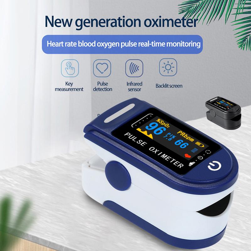 Пульсоксиметр Пальчиковый портативный, прибор для измерения пульса и уровня кислорода в крови, SPO2, с коробкой      АлиЭкспресс