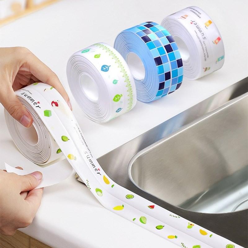 Водостойкая наклейка для кухонной раковины, анти плесень, водонепроницаемая лента для ванной комнаты, столешница, туалет, самоклеющиеся наклейки на швы, наклейка s|Лента| | АлиЭкспресс