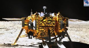 Chang'e 3 on the lunar surface
