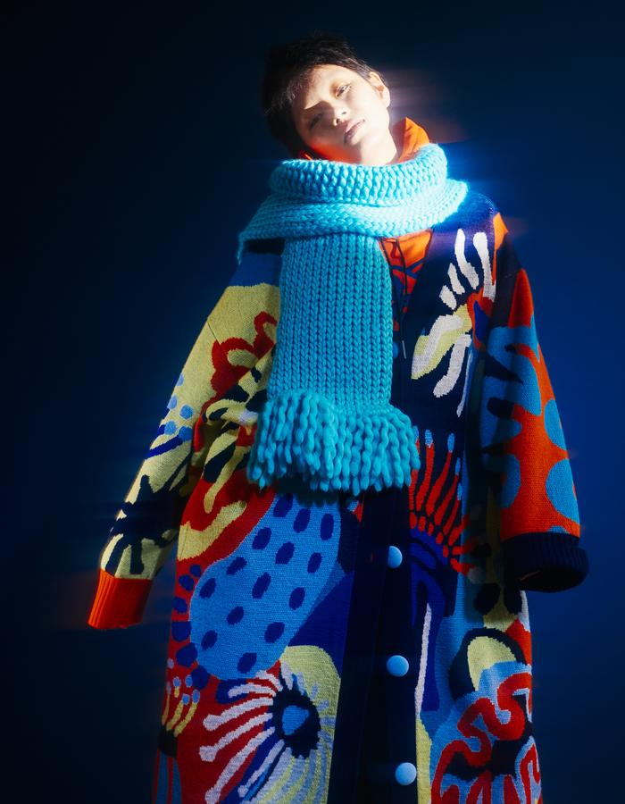CYNTHIA & XIAO Is a knitwear label established in 2014 by Central Saint Martin graduates, Cynthia Mak and Xiao Xiao. The Chinese design duo injects excitement and humor into basic knitwear silhouettes through vibrant, bold and whimsical graphic prints for men, women, and children.