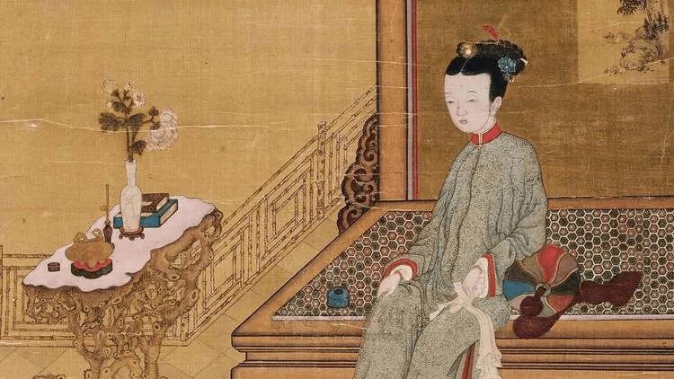 一个贵妇和侍香婢女 来源:搜狐