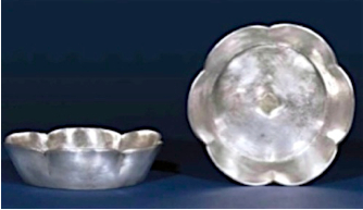 Sung silver lobed bowls