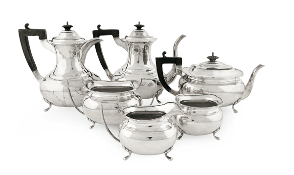 Hung Chong Chinese Export Silver Tea and Coffee Set
