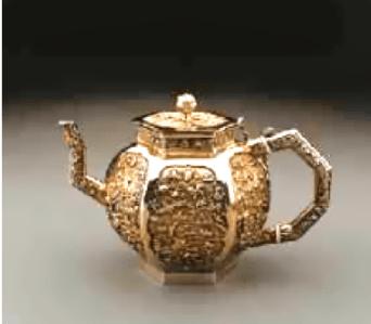 Early CES Hexagonal Tea Pot