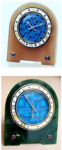 Cartier Art deco travel clocks with tian tsui clock faces