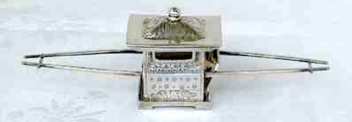 Late 19th century Chinese export Silver miniature sedan by Sun Shing