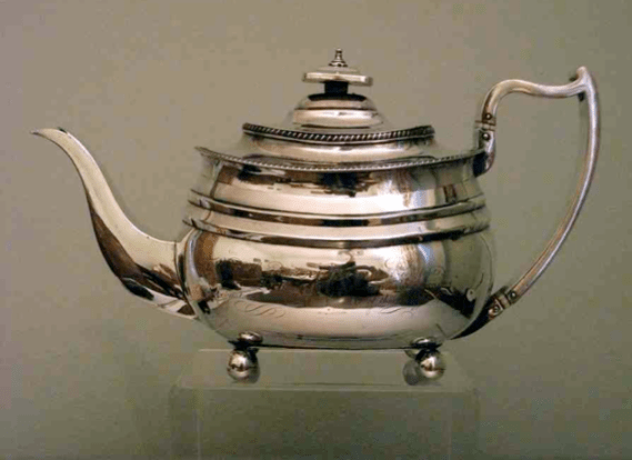 Chinese Export Silver comparison with Bateman teapot