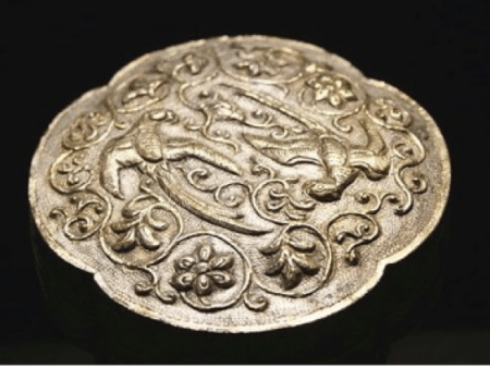 Tang Dynasty 9th century Lobed Silver Box