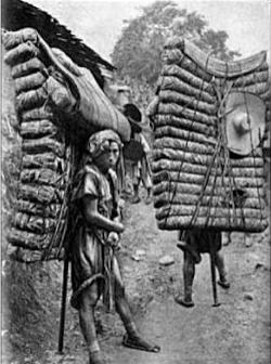 2 coolies carrying 300lb tea each