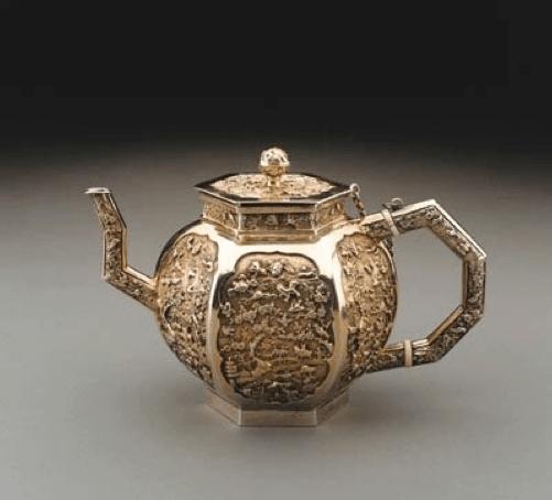 Chinese Export Silver circa 1680 teapot