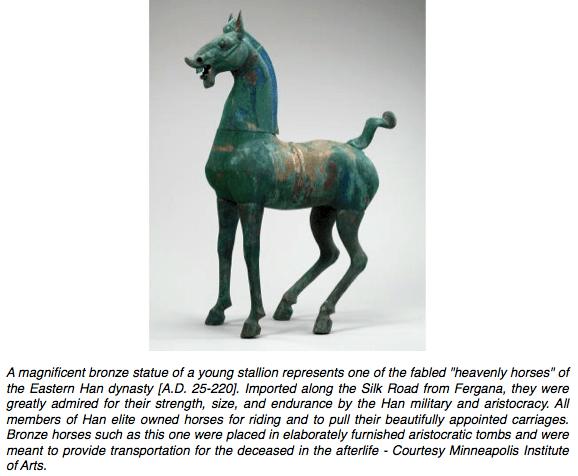 Han Dynasty Bronze Horse