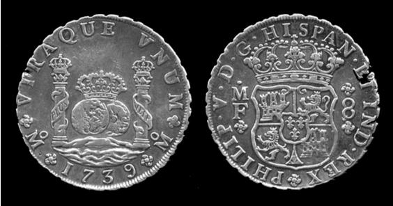 1739 Philip Fifth Silver Trade Dollar