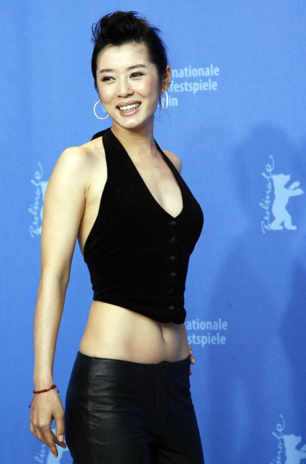 Chinese actress Nan Yu poses during a ph