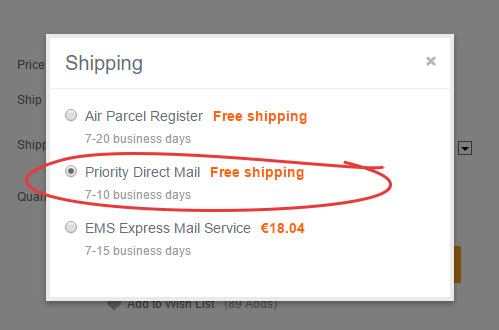 banggood priority direct mail china