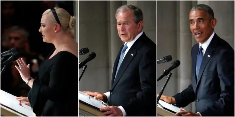 悼念麦凯恩 | 奥巴马、布什和梅根在葬礼上致辞全文翻译