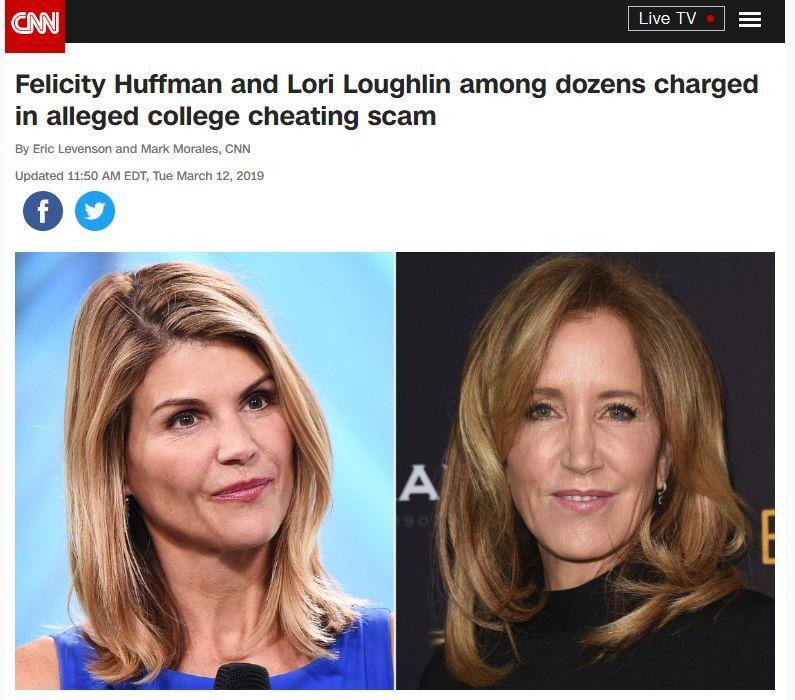 美国名校最大录取丑闻曝光,多位名流富豪和大学教练等遭起诉