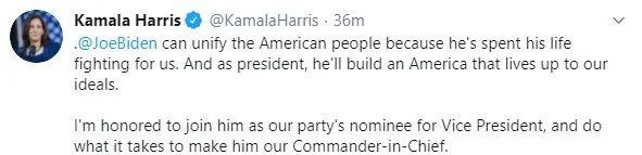 拜登选定竞选搭档,贺锦丽会成为美国第一位女总统吗?