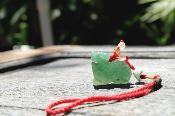 Chinese New Year jade necklace