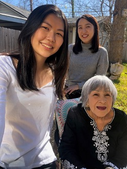 Mom with Lola and Maddie