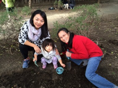 Worms with Lisa and granddaughter