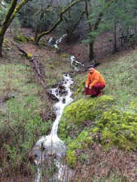 Khenpo at Stream