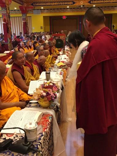 Dorje Palmo Presenting Offering