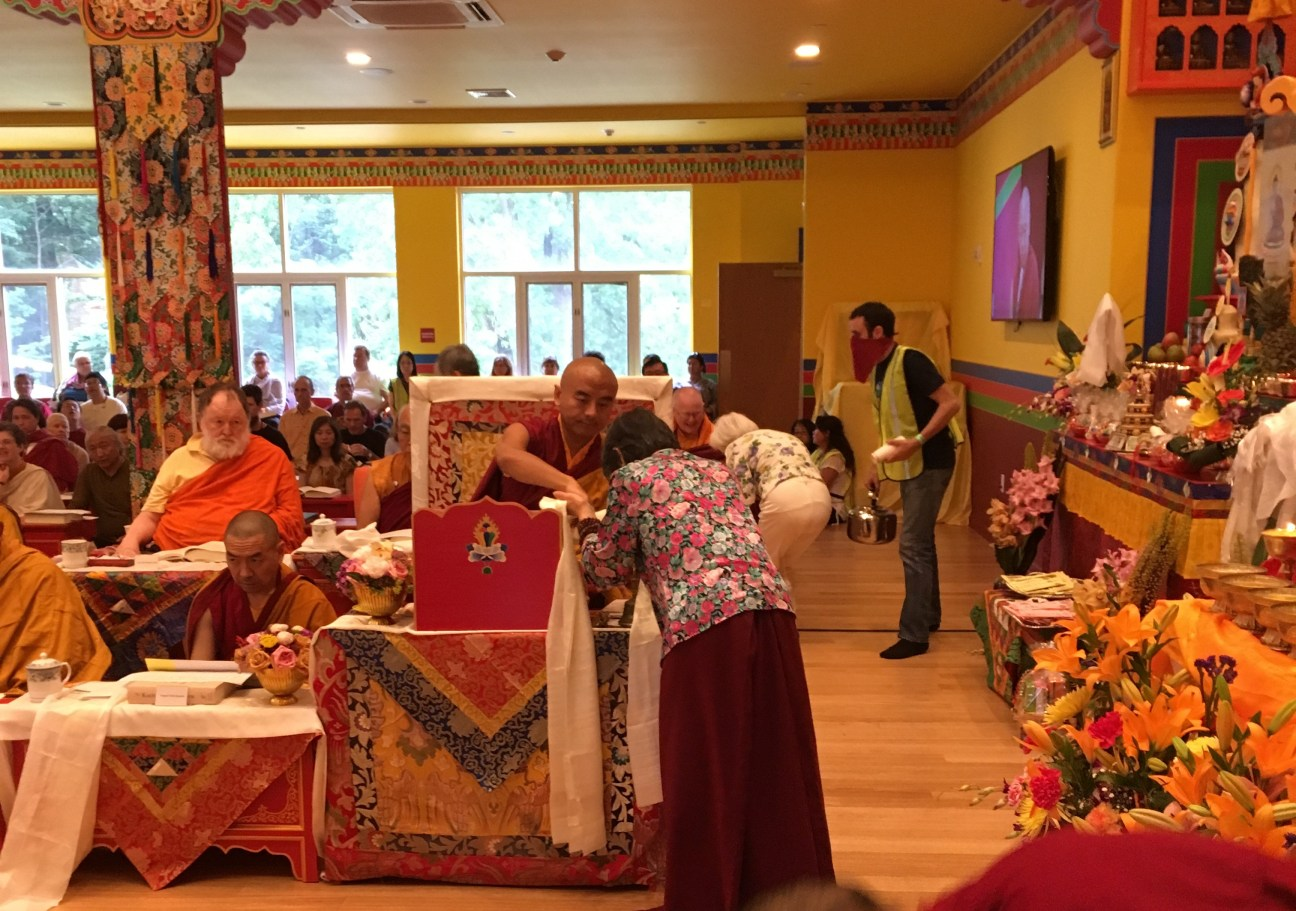 Offering to Mingyur Rinpoche