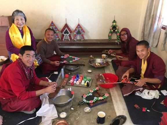 making-butter-sculpture-tormas-at-monastery