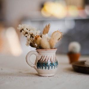 Duo de mini-vases Horezu blancs