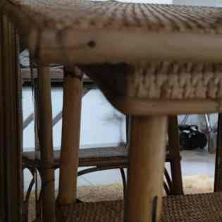 Console, bout de table en rotin vintage