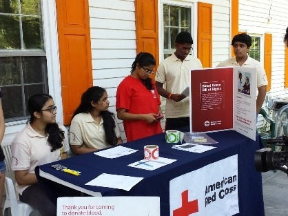 JET New Jersey Prajna Students Partake in Red Cross Blood Drive