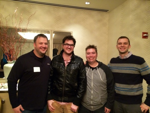 CHI-NOG organizers with guest speaker: Jason Craft, Stephen Guppy, Brian McGahan, Tom Kacprzynski.