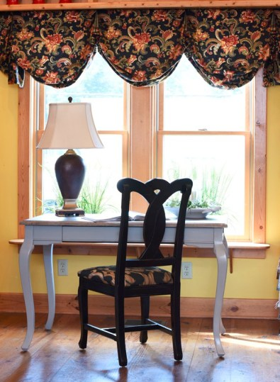 Custom valances add color, texture, and pattern to your room.
