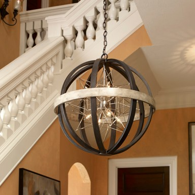 Light fixtures add ambiance to any room.