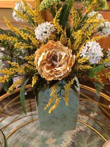 Custom floral arrangements can complete the look of any room.