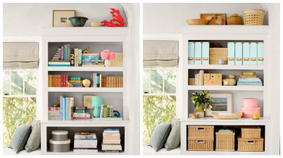organize shelves, organizing, CH Interior Designs