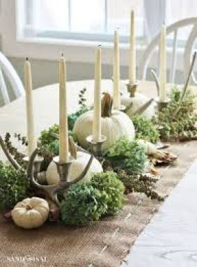fall decorating,ch interior designs, waynesville,ohio, white pumpkins, centerpiece, home decor